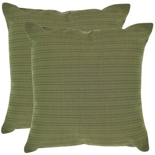 Poolside 20-inch Outdoor Green Pillows (Set of 2)