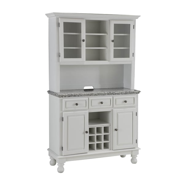 Premium Buffet with Granite Top and Hutch