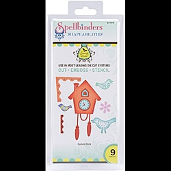 Spellbinders Shapeabilities 'Cuckoo Clock' Dies by Samantha Walker