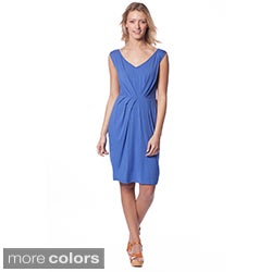 AtoZ Women's Modal Pleated Tank Dress