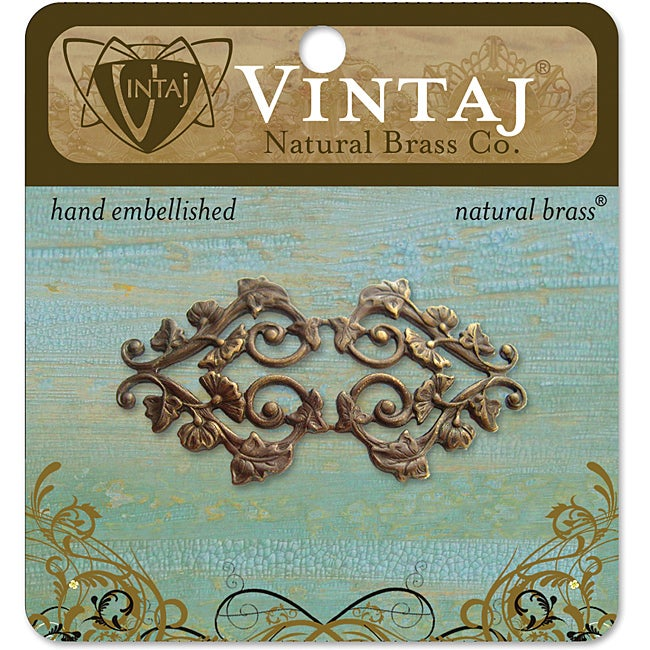 Vintaj Deco Vines Filigree Metal Accent Embellishment