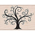 Hero Arts Decorative Flourish Tree Mounted Rubber Stamps