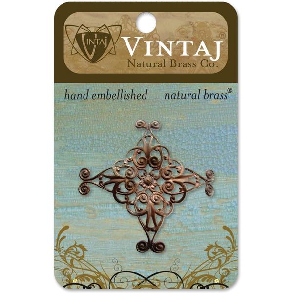 Vintaj Metal Diamond Swirl Filigree Accent Embellishment
