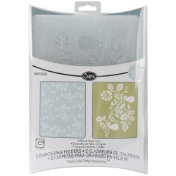 Sizzix Textured Impressions Grey-'Figgy Pudding' Embossing Folders