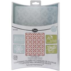 Sizzix Textured Impressions 'Figgy Pudding Santa Baby' Embossing Folders (5/pkg)