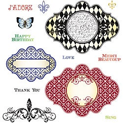 JustRite Stampers 'Fleur De Lis' Cling Stamp Set (Pack of 13)