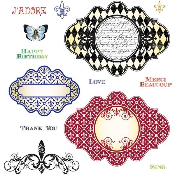 JustRite Stampers 'Fleur De Lis' Cling Stamp Set (Pack of 13)