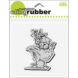 Stampendous 'Floral Bonnet Baby' Cling Rubber Stamp