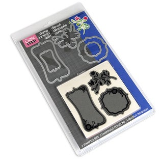 Sizzix Framelits 'Frames With Sprigs' Clear Stamps/ Dies Set