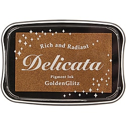 Delicata Non-tarnishing Golden Glitz Full-size Inkpad