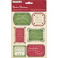 Timeless Christmas Greetings With Jewel Accents Chipboard Stickers