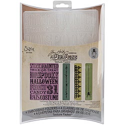 Sizzix Texture Fades 'Halloween' Embossing Folders (Pack of 4)