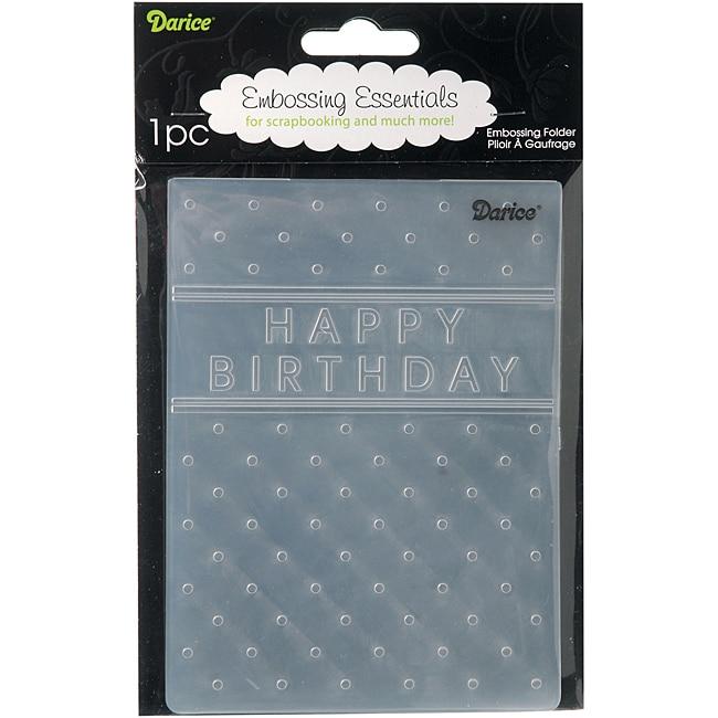 'Happy Birthday' Embossing Folder