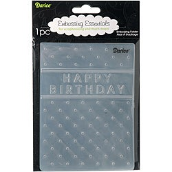 'Happy Birthday' Embossing Folder