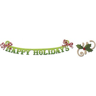 Sizzix Sizzlits Decorative Strip 'Happy Holidays' Die Set