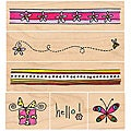 Penny Black Rubber Stamp Set -Hello