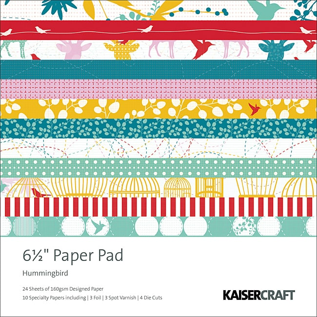 Kaisercraft 'Hummingbird' 40-sheet Scrapbook Paper Pad