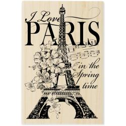 Stampendous 'I Love Paris' Mounted Rubber Stamp