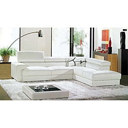 Ashton 2-piece White Sectional