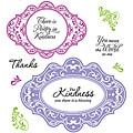 JustRite Stampers Kindness Cling Stamp Set (Pack of 10)