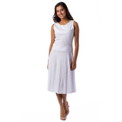 AtoZ Women's Turkish Cotton Mid-Calf Dress