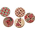 Fabscraps Hand-Painted Half-Inch Wooden Buttons (Pack of 300)