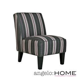 angelo:HOME Dover Founding Stripe Grey and Plum Armless Chair
