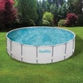 PRO Series 18-ft Round 52-in Deep Metal Frame Swimming Pool Package