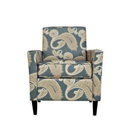 angelo:HOME Sutton Feathered Paisley French Blue Arm Chair