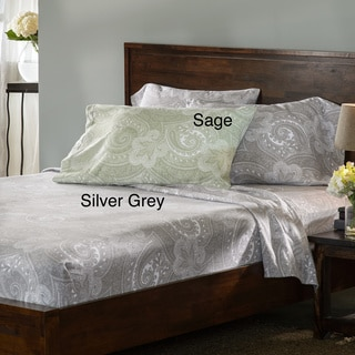 Luxury German Paisley Print Flannel Sheet Sets or Pillowcase Separates