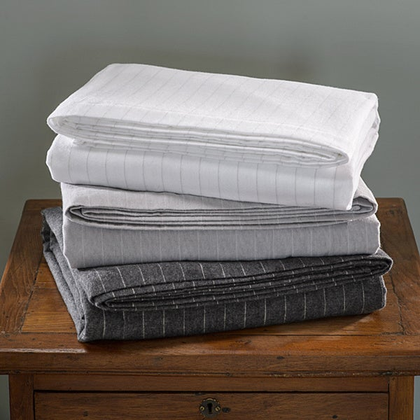 German Luxury Stripe Print 6-ounce Flannel Sheet Sets