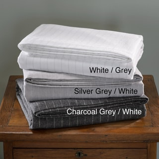 Luxury German Stripe Print 6-oz Flannel Sheet Sets or Pillowcase Separates
