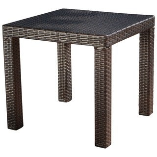 RST Outdoor Espresso Rattan Patio Side Table