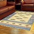 Indo Handcrafted Wool 'Diamond Star' Area Rug 5 x 8 Feet (India)