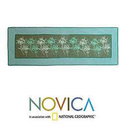 Cotton 'Flower Breeze' Table Runner (Thailand)