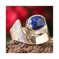 Sterling Silver 'Balance' Lapis Lazuli Ring (Peru)