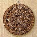 Ceramic 'Aztec Calendar in Tan' Plaque (Mexico)