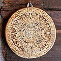 Ceramic 'Small Ochre Aztec Calendar' Plaque (Mexico)