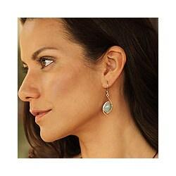 Sterling Silver 'Path of Life' Jade Earrings (Guatemala)