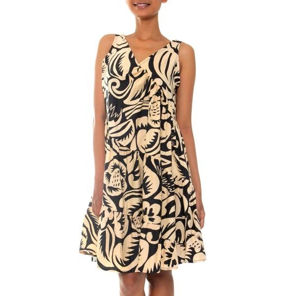 Cotton Batik 'Balinese Shadow' Dress (Indonesia)
