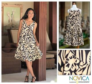 Cotton Batik 'Balinese Shadow' Dress (Indonesia)