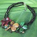 Handcrafted Multi-gemstone 'Sparkling Bouquet' Necklace (Thailand)