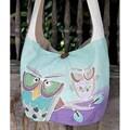 Cotton 'Owl Sisters' Sling Handbag (Thailand)