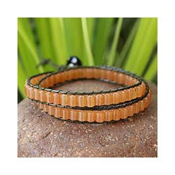 Quartz 'Honeysuckle' Wrap Bracelet (Thailand)