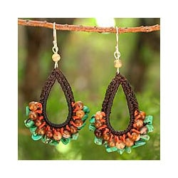 Handcrafted Multi-gemstone 'Deva Destiny' Earrings (Thailand)