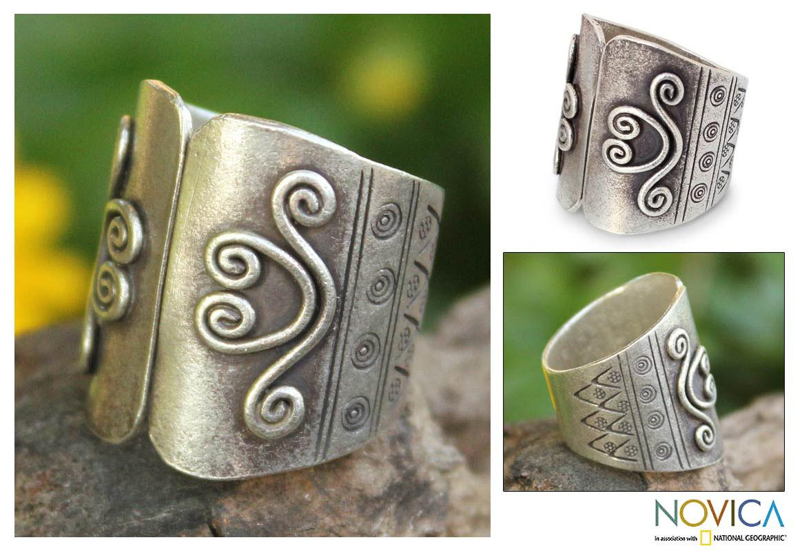 Sterling Silver 'Proud of Mae Ping' Ring (Thailand)