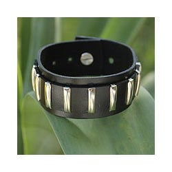Leather 'Thai Melody' Bracelet (Thailand)
