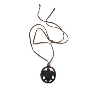 Coconut Shell 'Lucky Turtle' Necklace (Indonesia)