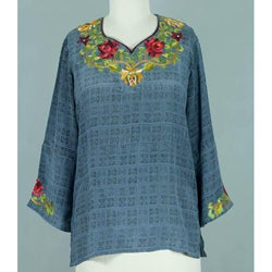 Silk 'Scarlet Lotus' Tunic (India)