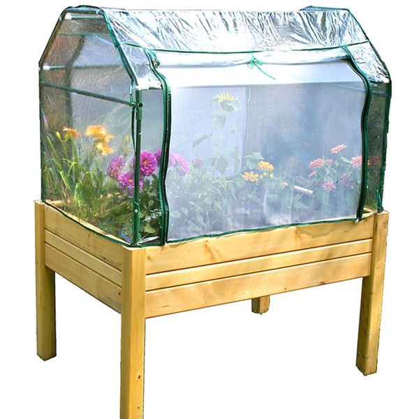 Riverstone eden mini raised greenhouse 14130079 for Walk in greenhouse big lots